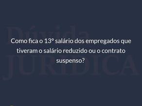 13º salário nos contratos modificados devido à pandemia