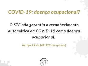 COVID-19: doença ocupacional?