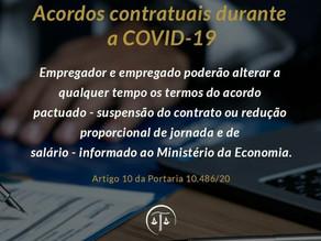 Acordos contratuais durante a COVID-19
