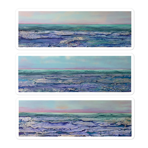 Icy Lake Michigan Sticker Pack of 3 Bubble-free stickers