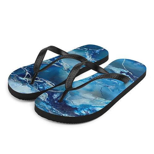 Blue Waves Flip-Flops