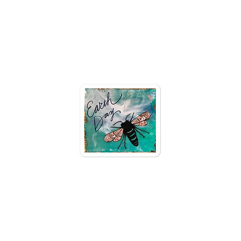 Earth Day HBee Bubble-free vinyl sticker