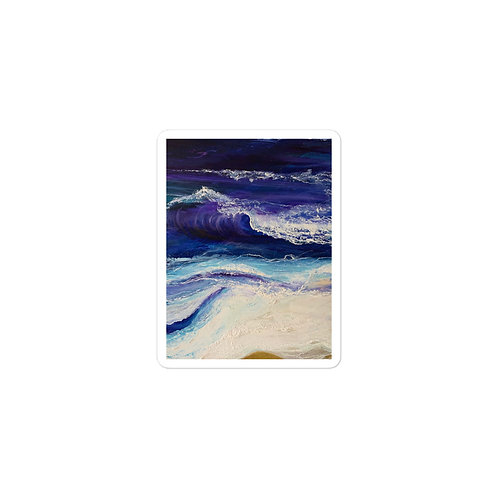 Midnight Waves Bubble-free vinyl sticker
