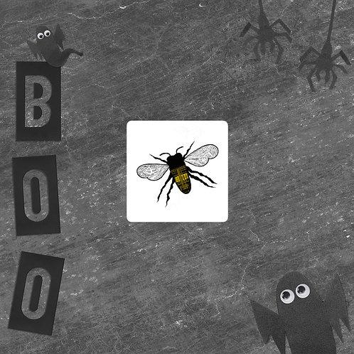 Plaid Honeybee Bubble-free vinyl sticker