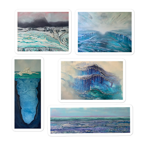 Icy Waters Sticker Pack of 5 Bubble-free stickers