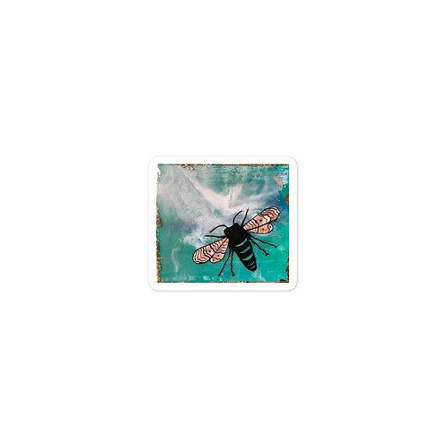 Earth Day (plain) Honeybee Bubble-free vinyl sticker