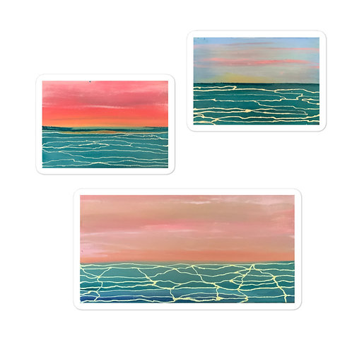 Lake Michigan Summers Sticker Pack of 3 Bubble-free stickers