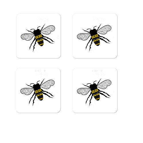 Plaid Honeybee Sticker Pack of 4 Bubble-free stickers