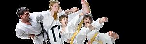 Familt practising Karate