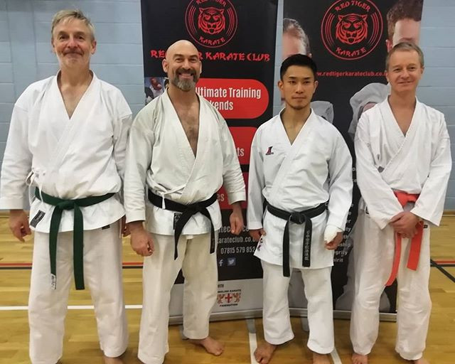 Group photo after training session with Shohei Toyama in Bolton