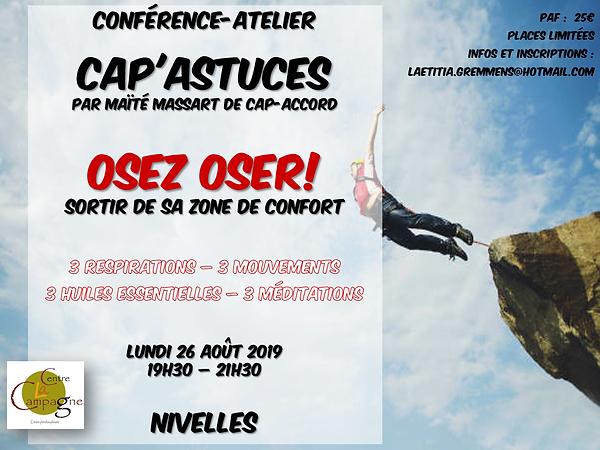 Maïté Massart CAP-Accord Centre la Campagne CAP'Astuces Oser Osez Pont-à-Celles Nivelles Charleroi