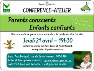 Conférence-Atelier à ATH le jeudi 21 avril