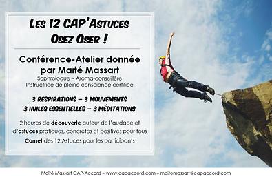 Maïté Massart CAP-Accord Conférence Atelier CAP'Astuces Osez Oser !