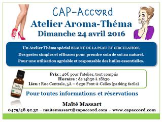 Atelier Aroma Beauté et circulation - 24 avril 2016