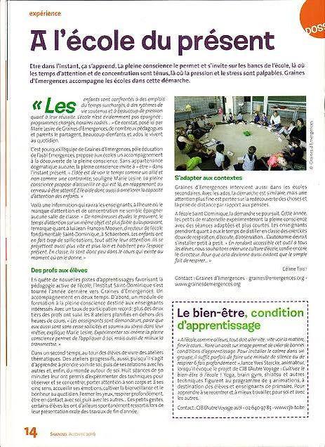 Marie Lesire CAP Accord méditation Pleine conscience mindfulness enfants adultes Pont-à-Celles Maïté Massart M