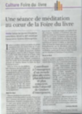 Maïté Massart CAP Accord méditation pleine conscience enfants Foire du Livre Graines d'Emergences journal Libre