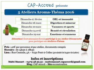 Ateliers Aroma : programme 2016