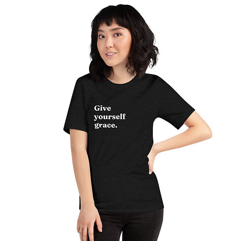 Give Yourself Grace (White Text) Short-Sleeve Unisex T-Shirt