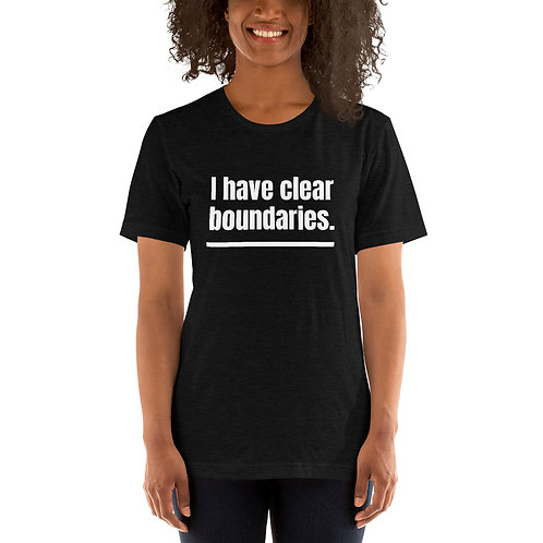 I Have Clear Boundaries (White Text) Short-Sleeve Unisex T-Shirt