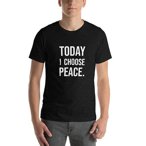 I Choose Peace (White Text) Short-Sleeve Unisex T-Shirt