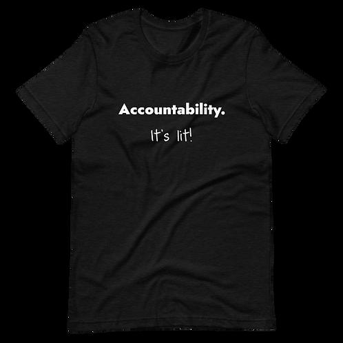 Accountability (White Text) Short-Sleeve Unisex T-Shirt