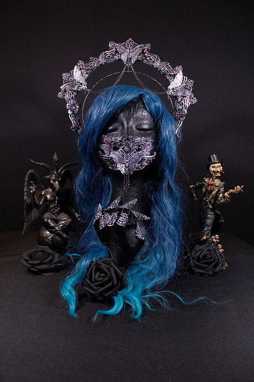"""SET """"BUTTERFLY II"""" -CONSISTING OF HALO HEADDRESS, MOUTHPATCH & FINGERCLAWS"""