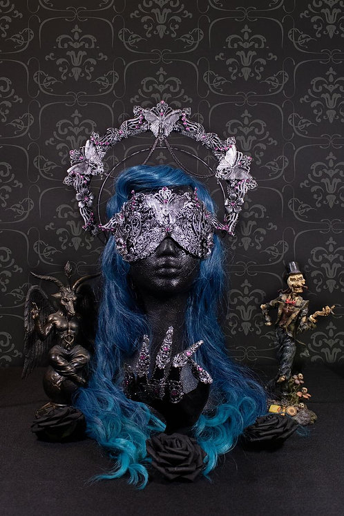 """SET """"BUTTERFLY"""" - CONSISTING OF HALO, BLIND OPTIC MASK AND METALGLOVE"""