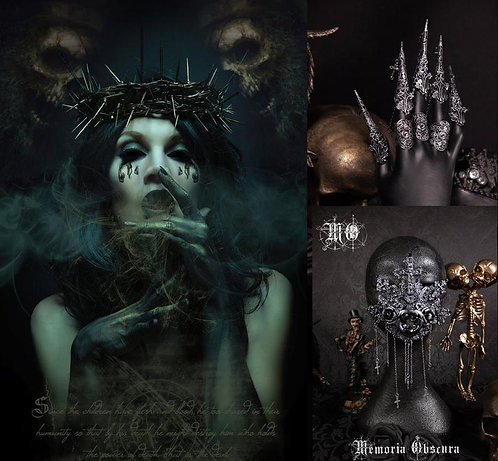 """SET """"SPEAK NO JESUS"""" - CONSISTING OF THORNED CROWN, CLAWS & MOUTHPATCH"""