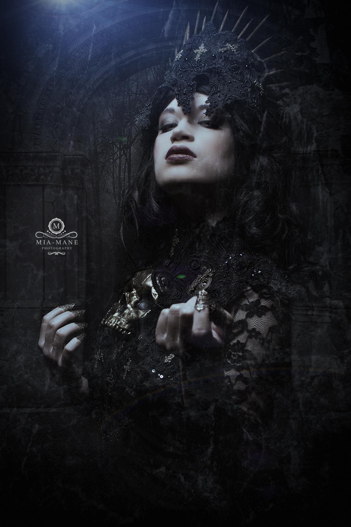 Gothic Kostüm Gothic Kopfschmuck