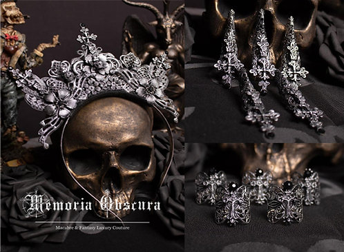 """GOTHIC FANTASY SET """"HEAVENLY"""" - CONSISTING OF HEADDRESS, FINGERCLAWS & RINGS"""