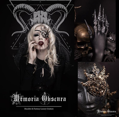"""FANTASY SET """"MACABRE"""" - CONSISTING OF EYEPATCH & CLAWS"""