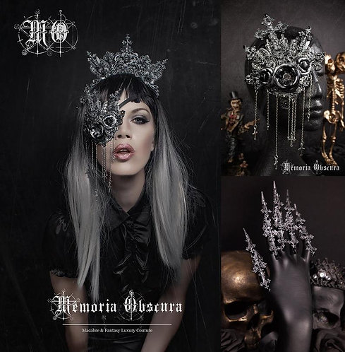 """FANTASY GOTHIC SET """"HOLY MOLY"""" - CONSISTING OF HEADPIECE, EYEPATCH & CLAWS"""