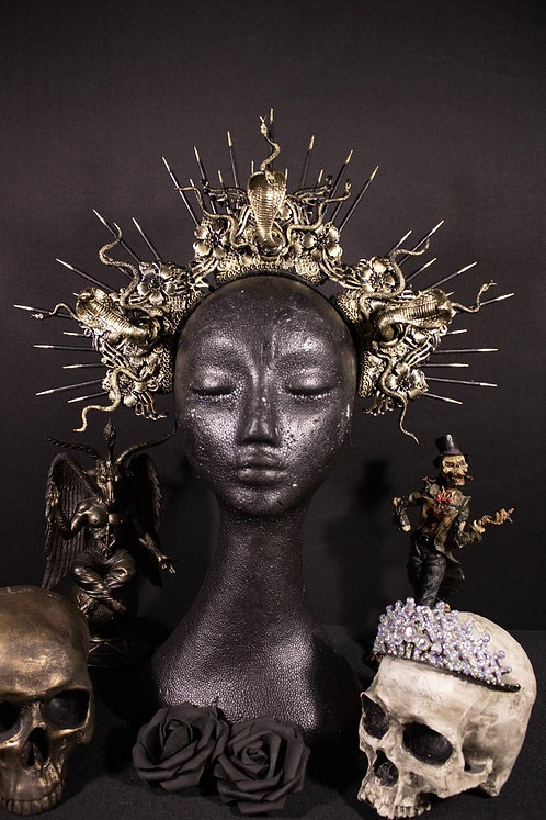 "MEDUSA SNAKE HEADDRESS ""COBRA QUEEN"""