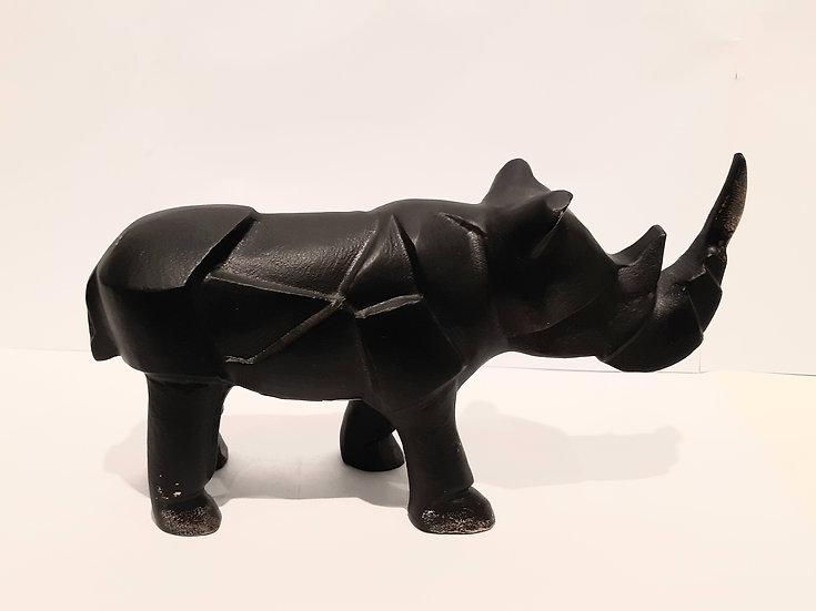 Hipopotamo de Metal Bronze Envelhecido