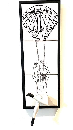 Quadro Azulejo Paraquedista