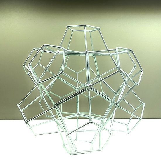 Escultura Hexagonal Prata
