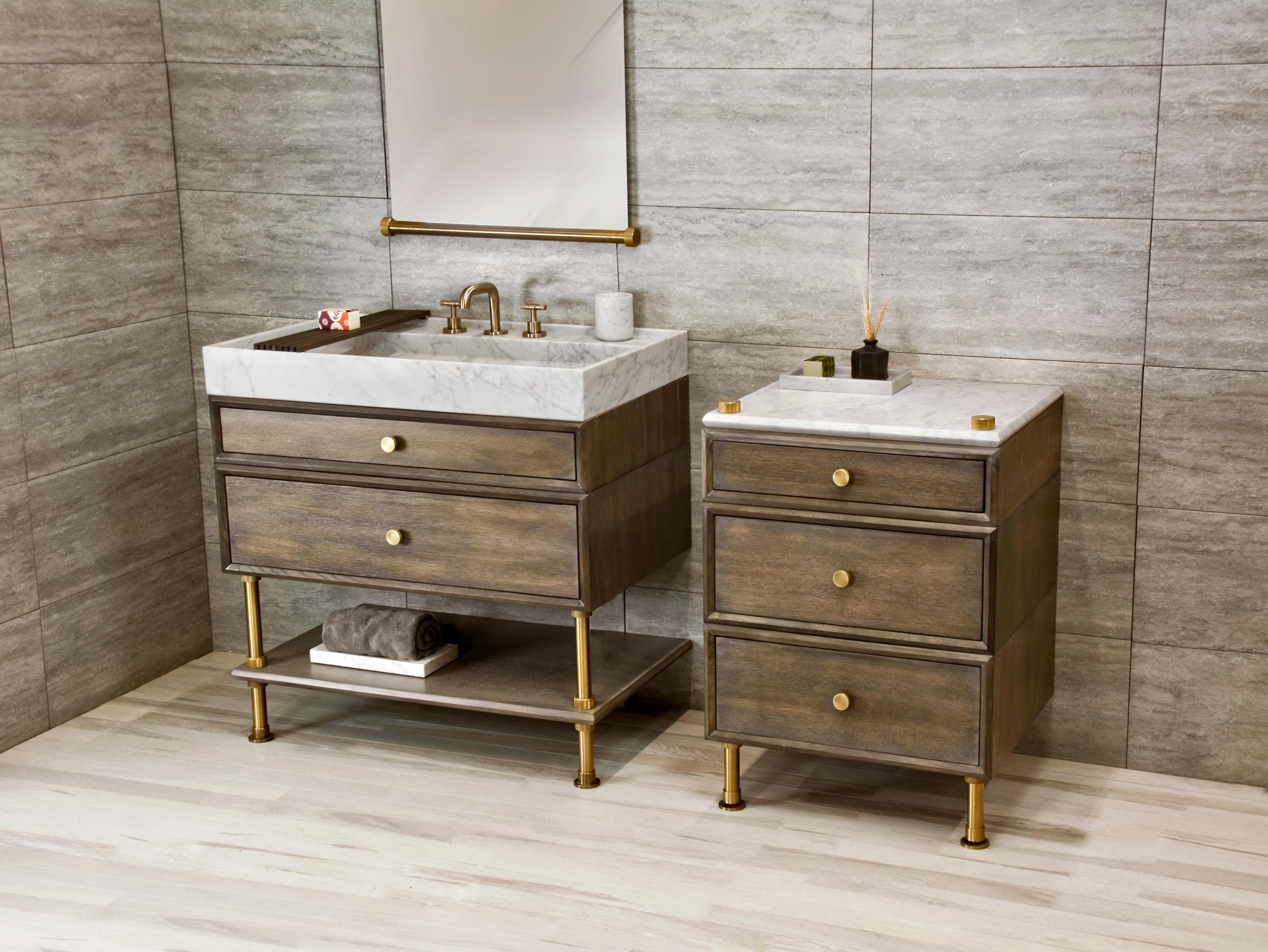 Ventus Bath Vanity with Split Drawers &