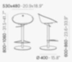 מידות כיסא בר GLISS 970.png