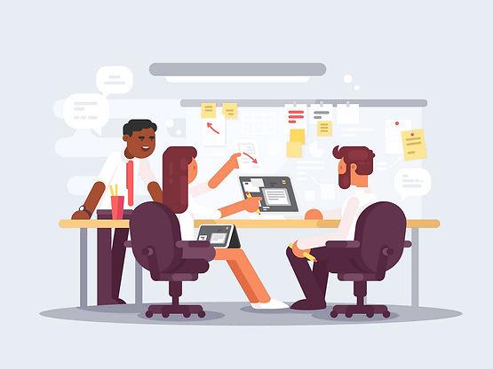 work-schedule-working-environment-vector