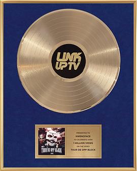 Gold Record Award Link Up TV Blue Premium .png