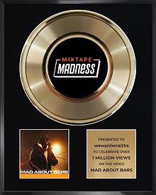 wewantwraiths - Mad About Bars w/ Kenny Allstar gold record award