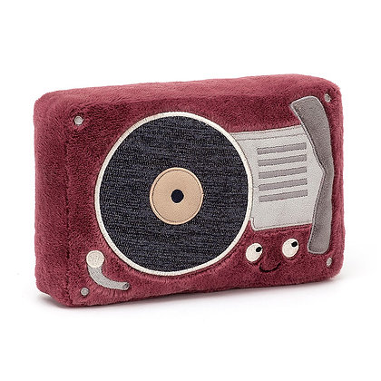 Jellycat Wiggedy Record Player (Höhe 24 cm)