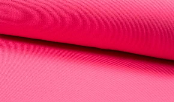 Feinstrick Bündchen - Neon Pink / Schlauchware