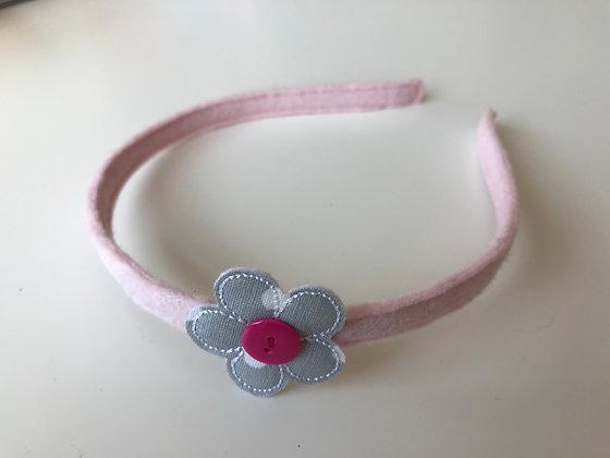 Haarreifen - Rosa/Grau/Pink