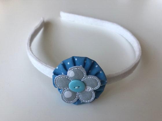 Haarreifen - Weiß/Blau