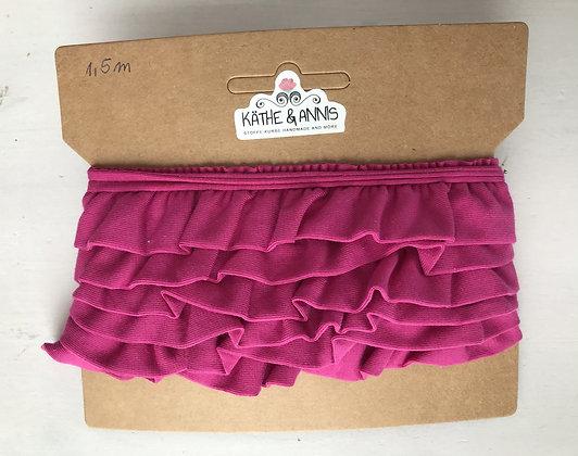 Jerseyvolant, pink , 3,0 cm