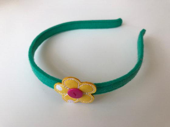 Haarreifen - Grün/Gelb