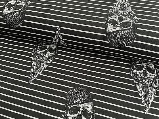 """Jersey """"Black Hipstar Skulls"""" - Fräulein von Julie"""