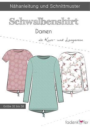 Papierschnittmuster Fadenkäfer - Schwalbenshirt - Damen