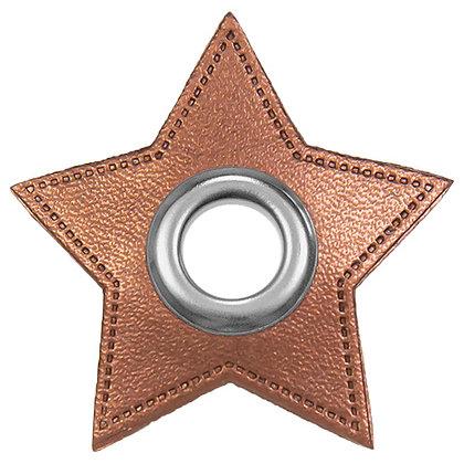 Ösenpatch Stern - Kupfer Metallic